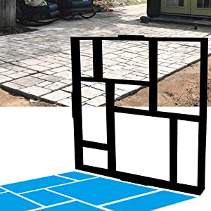 "CJGQ ANOTHERA 20""x20""x1.8"" Plus Size Walk Maker Reusable Concrete Path Maker Molds Stepping Stone Paver Lawn Patio Yard Garden DIY Walkway Pavement Paving Moulds (8-Grid)"