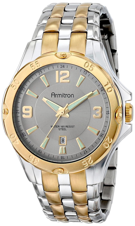 Amazon.com: Armitron Mens 20/4963SVTT Ratchet Bezel Two-Tone Bracelet Watch: Watches