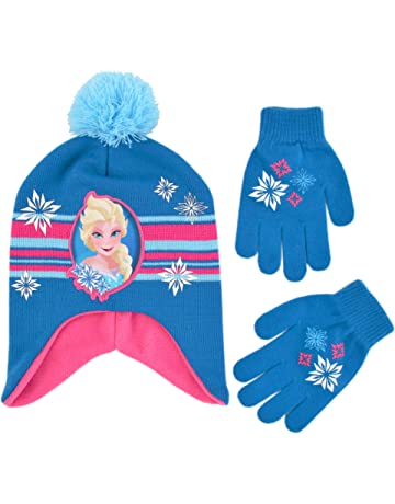 e6773329280 Disney Girls  Little Frozen Elsa Scandi Hat and Gloves Cold Weather Set