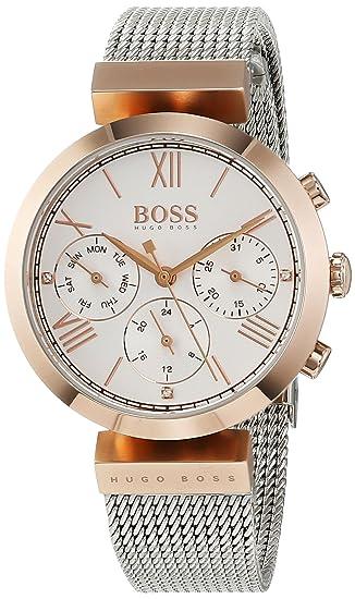 Hugo BOSS Reloj Analógico para Mujer de Cuarzo con Correa en Acero Inoxidable 1502427: Amazon.es: Relojes