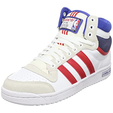 new style 49894 3ba55 adidas Originals Men s Top Ten Hi NBA Sneaker,Running White Red Blue,