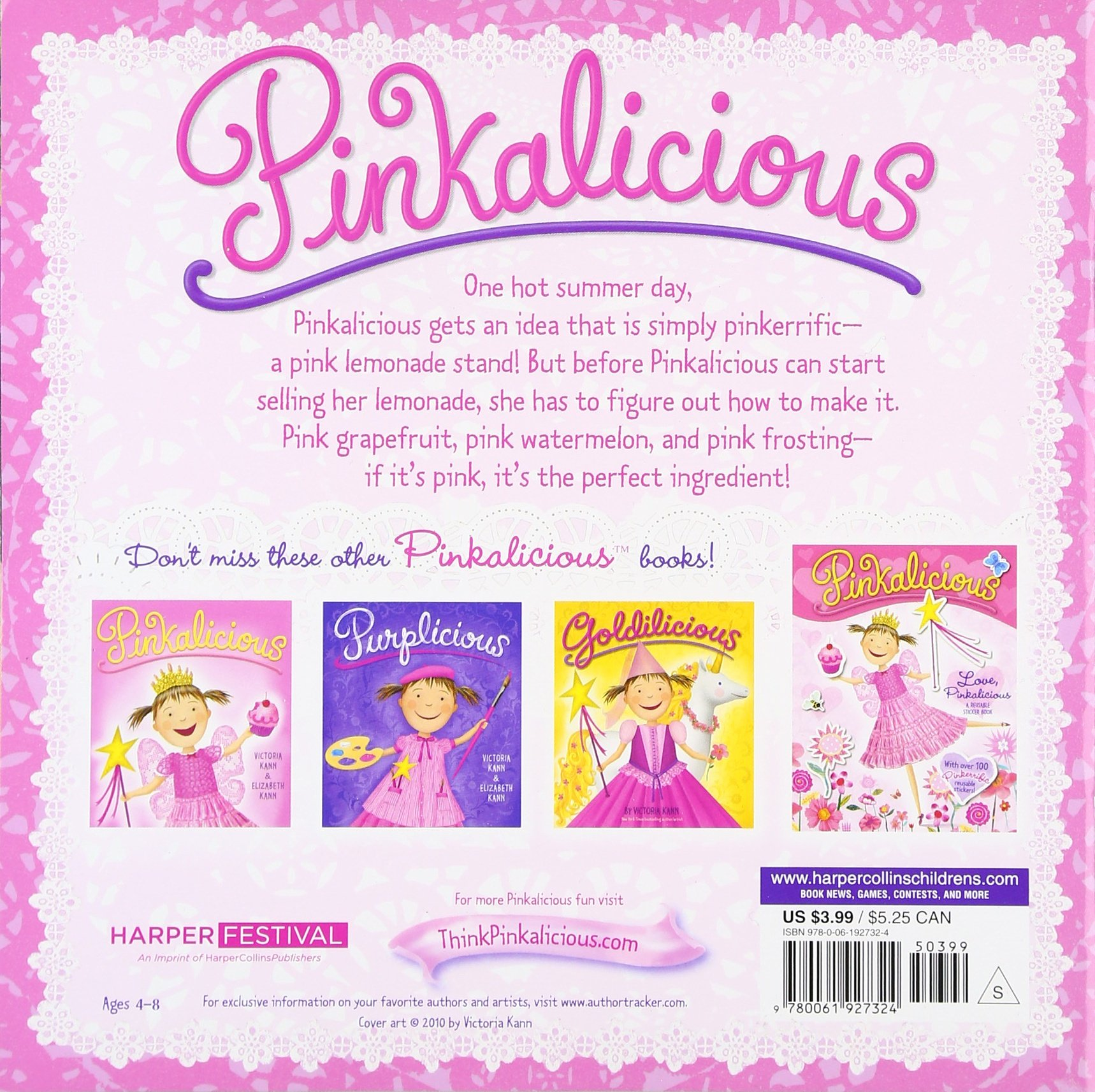 pinkalicious and the pink drink victoria kann 9780061927324