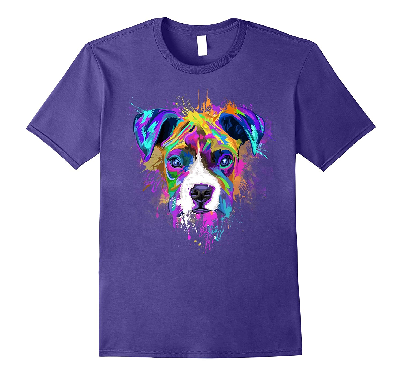 Splash Art Boxer Dog T-Shirt   Puppy Lover Gift-ANZ