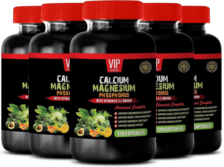 Vitamin d for Bone Health - Calcium Magnesium Phosphorus Vitamin D-3 & Boron - Calcium and Magnesium Supplement for Women - 5B (600 Capsules)