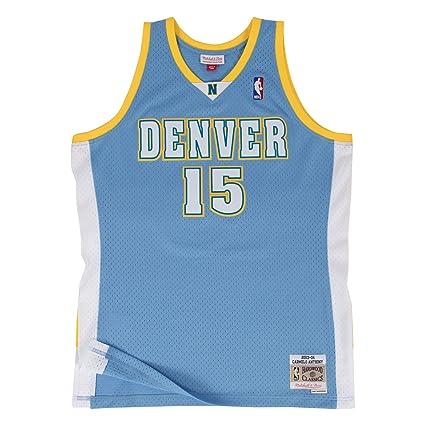 online store 052dd 70c7b Amazon.com : Mitchell & Ness Carmelo Anthony Denver Nuggets ...