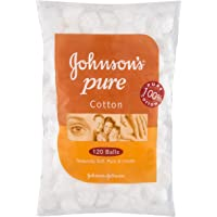 Johnson's Baby Pure Cotton Balls White 120