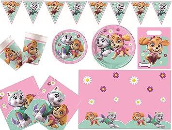 Procos 10133067 - Juego de Accesorios para Fiesta de cumpleaños Infantil, diseño de la Patrulla Canina