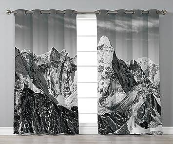 Amazoncom Iprint Stylish Window Curtainsblack And White