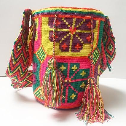 Amazon.com: Wayuu Bag Mochila Hand Woven Multicolor #651: Everything Else