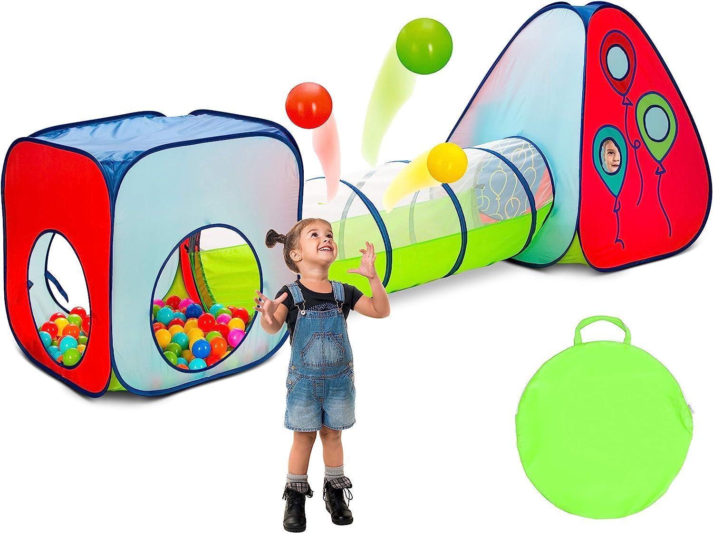 Kiddey 3pc Kids Play Tent Crawl Tunnel