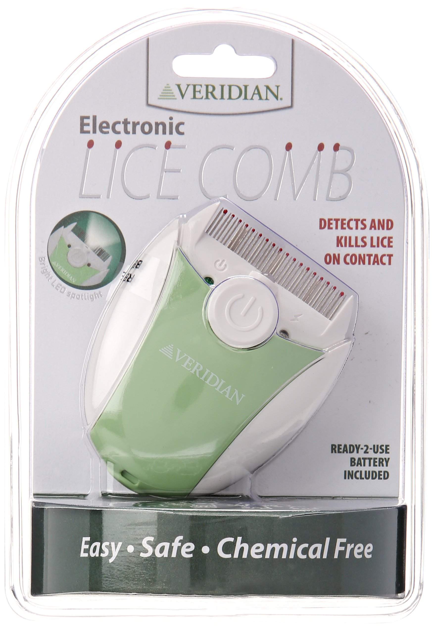Veridian Healthcare Finito Electronic Lice Comb, Green/White by Veridian Healthcare