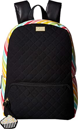Luv Betsey Women s Danny Cotton Backpack Black Multi Stripe One Size f5ce70babd