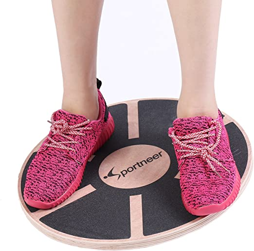 Exercise Balance Stability Trainer Portable Balance Board with Handle for Workout Core Trainer Physical Therapy /& Gym 16.34 Diameter No-Skid TPE Bump Surface Blue Sportneer Wobble Balance Board