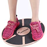 Sportneer Balance Board, Wooden Wobble Boards for Exercise, Gym, Stability Training, Physical Therapy, Rehab, 15.7'' Diameter