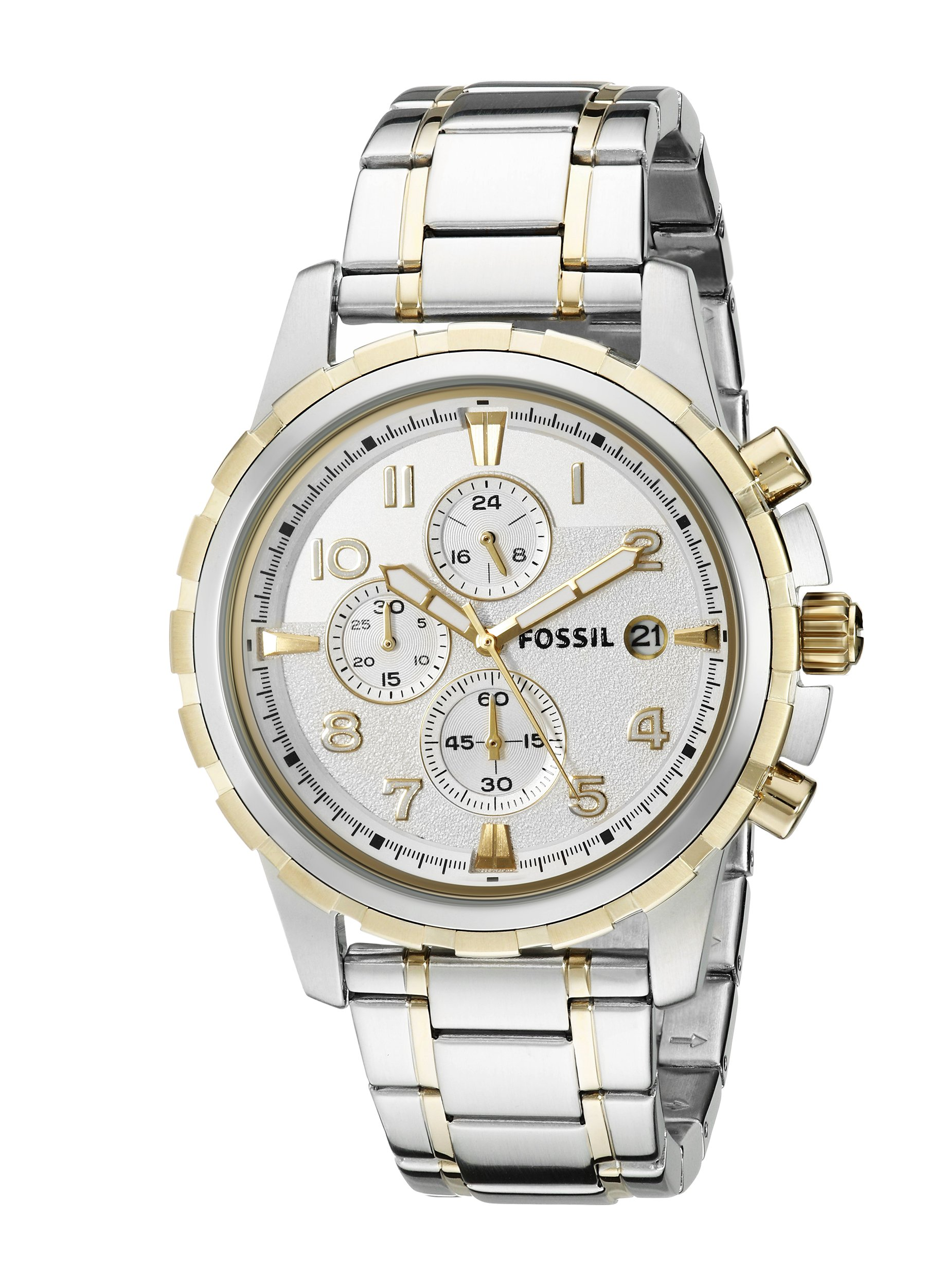 Fossil Mens Fs5024 Grant Chronograph Two Tone Rose And Jr1527 Nate 50mm Black Dial Stainless Fs4795 Dean Steel Watch