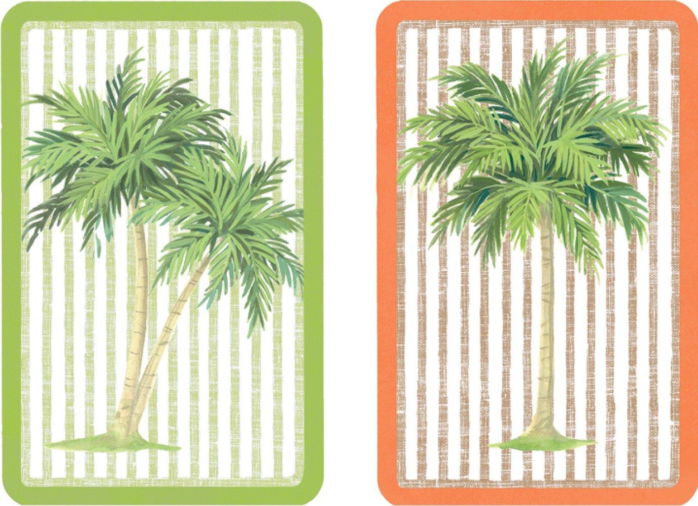 Caspari Palmen Karten mit Jumbo Text, Holz, Mehrfarbig, 13 x 9,5 x 0,1 cm