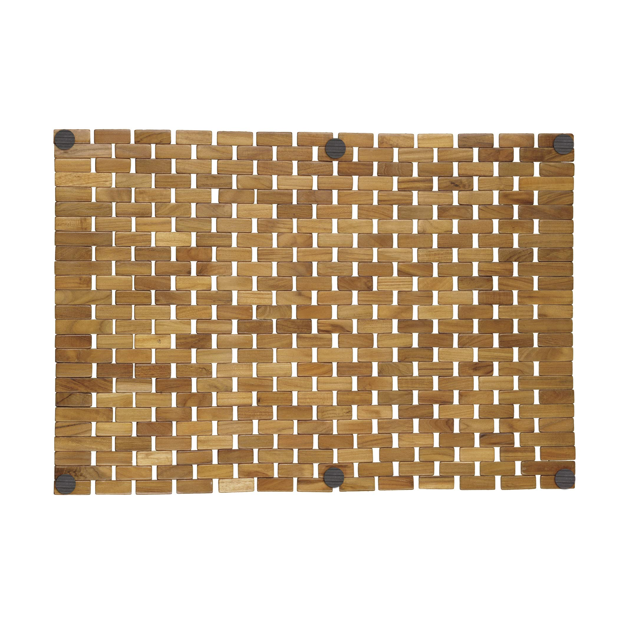 Conair Home Teak Spa Mat, Roll-Up or Lay Flat