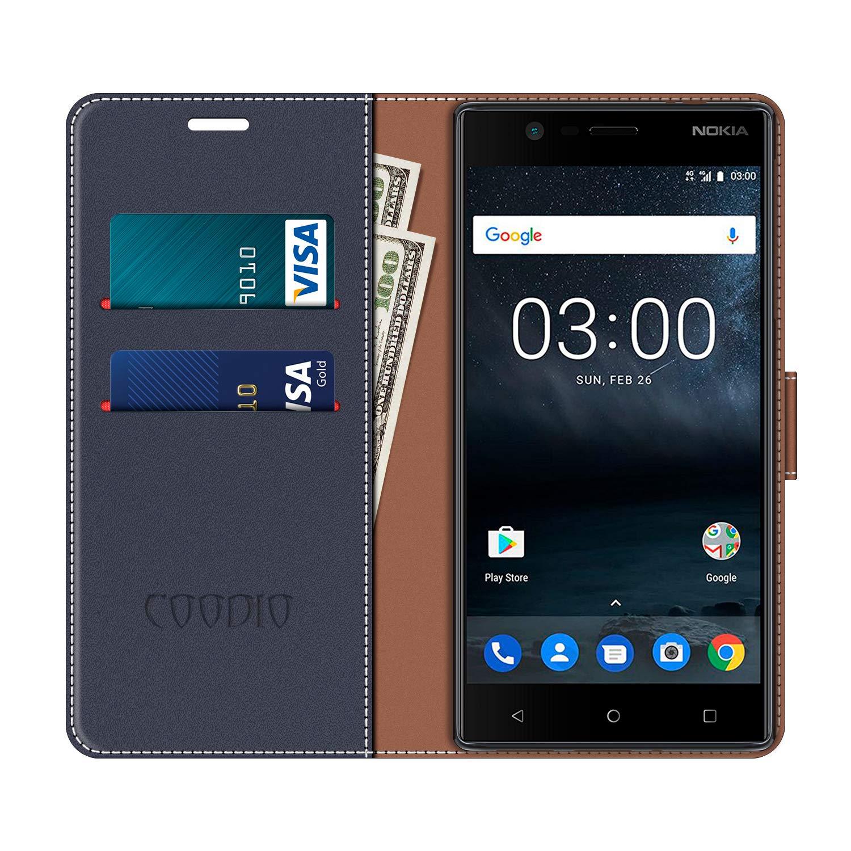 COODIO Funda Nokia 3 con Tapa, Funda Movil Nokia 3, Funda Libro ...