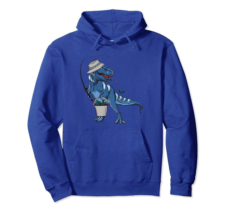 Fishing Dinosaur Hoodie Gifts-Colonhue