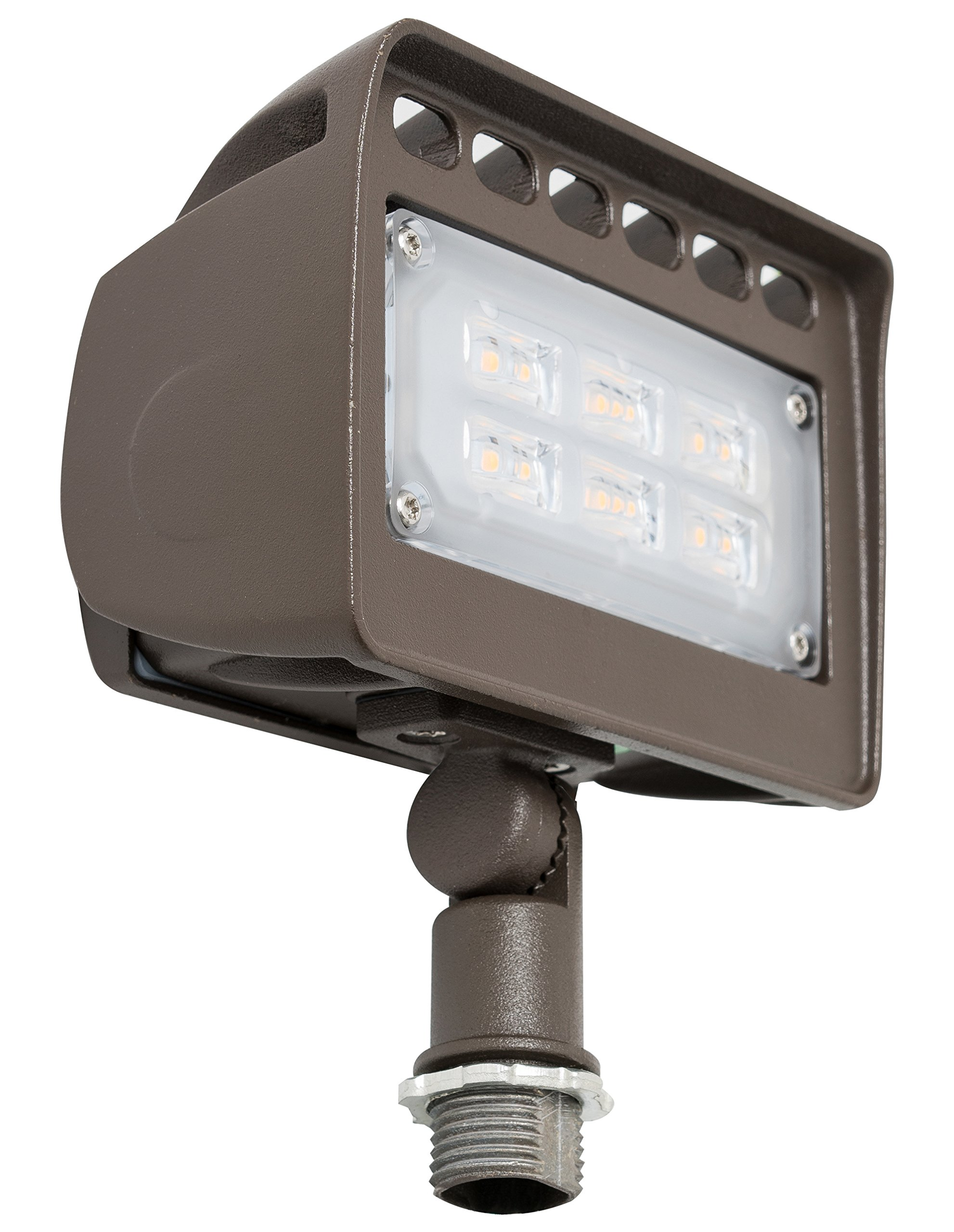 Westgate Lighting LED Flood Light With Knuckle Mount – Best Security Floodlight Fixture For Outdoor, Yard, Landscape, Garden Lights – Safety Floodlights - UL Listed (12 Watt, 3000K Warm White)
