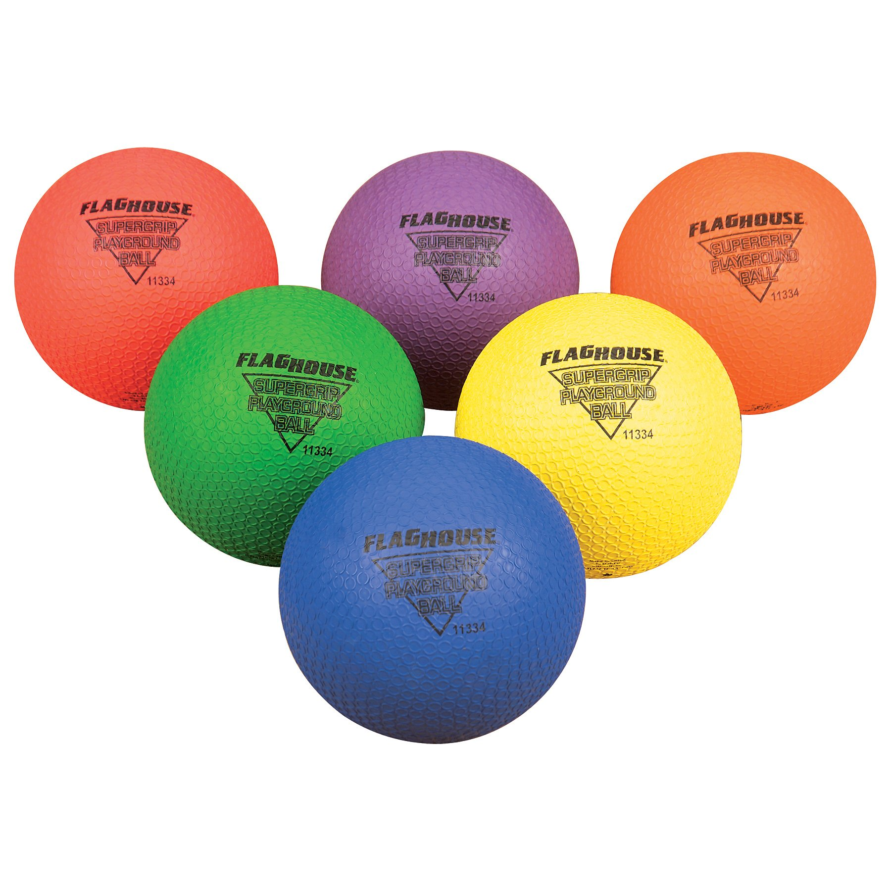 FLYING COLORS SUPERGRIP Playground Ball Set - 7'' by FlagHouse Inc.