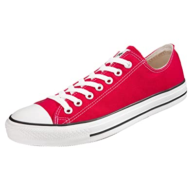 b2c9119e23e1 Image Unavailable. Image not available for. Color  Converse Chuck Taylor  All Star Lo Top Red Canvas Shoes ...
