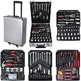 SOTECH - Caja de herramientas cromo vanadio maleta -Caja trolley con 251pc herramientas maleta martillo alicates