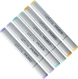 Copic Markers 6-Piece Sketch Set, Pale Pastels