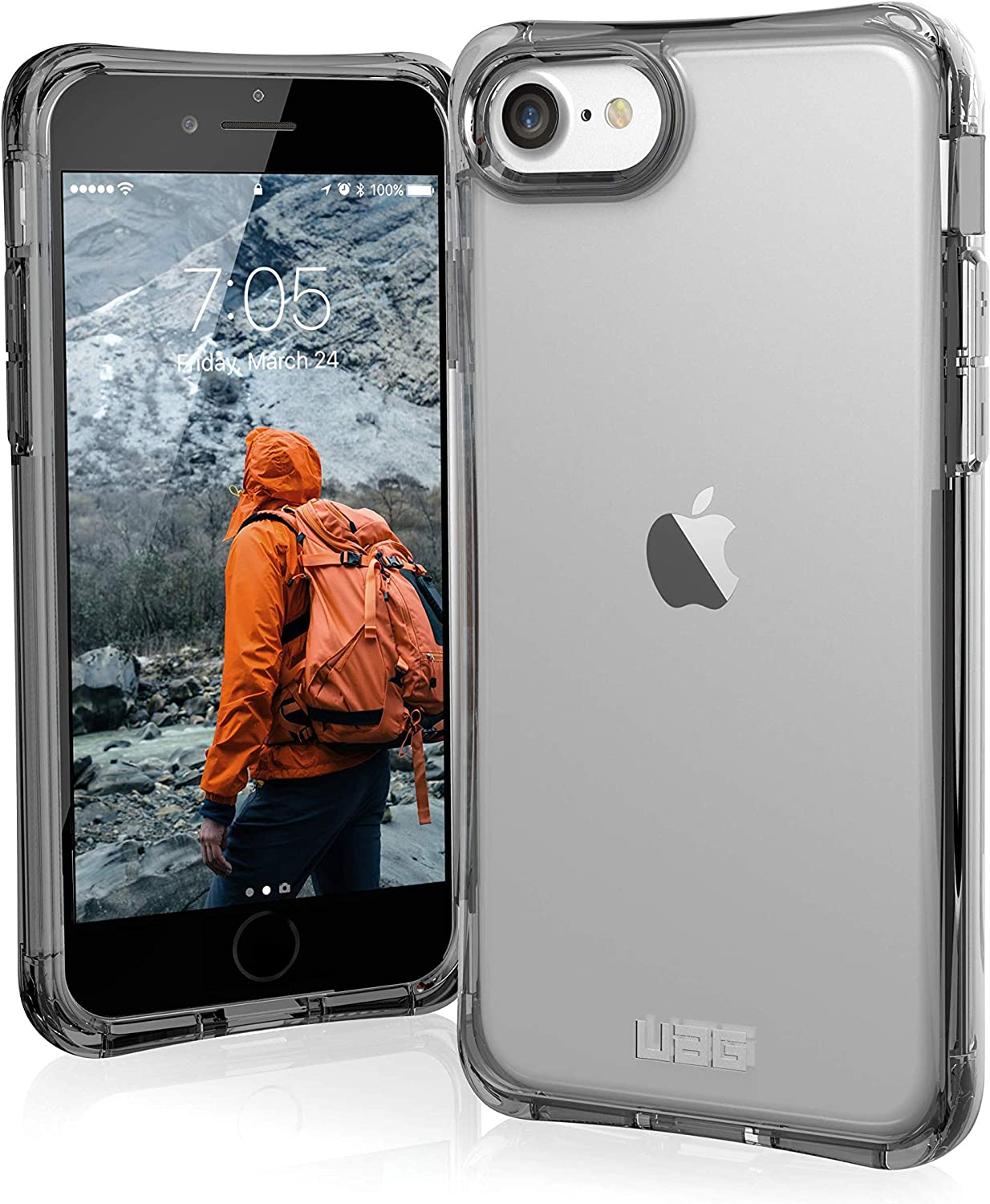 Urban Armor Gear UAG Designed for iPhone SE (2020)/iPhone 8/iPhone 7 [4.7-inch] Plyo Case Clear Impact Resistant Military Drop Tested Protective Cover, Ice