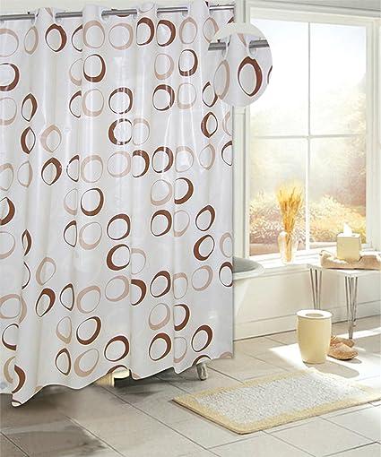 Amazon Carnation Home Fashions Brown Circles EZ On No Hooks