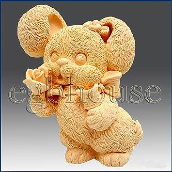 Honey Bunny - Detalle de escultura de alto alivio - jabón de silicona/polímero/arcilla/frío de porcelana molde: Amazon.es: Juguetes y juegos