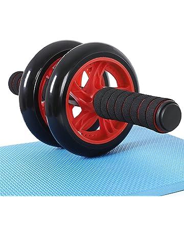 SONGMICS AB Roller AB Wheel Rueda para Flexiones Entrenamientos de Abdominals Push Up con Cojín del