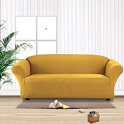 MB Collection Stretch Sofa Slipcover 1 Piece Sofa Bed Cover, Sofa Covers, Furniture  Slipcover