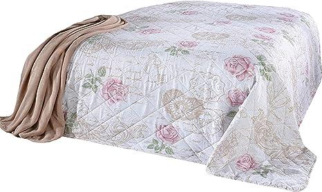MB Warenhandel24 XXL Tagesdecke Allzweckdecke 220x240 cm Patchwork Landhaus Sofa Bett/überwurf ca. 220x240 cm, Rose