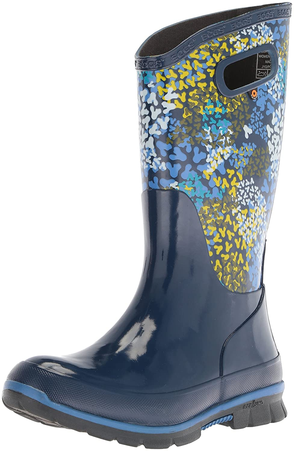 Bogs Women's Berkley Footprints Rain Boot B073PHZ8P8 6 B(M) US|Blue/Multi