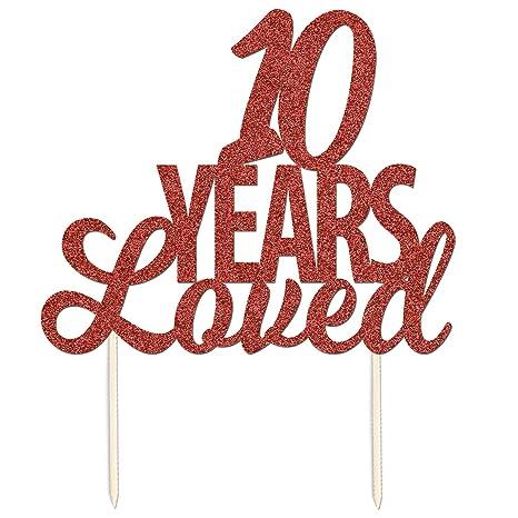 10 Ans Loved 10ème Anniversaire De Mariage Paillettes