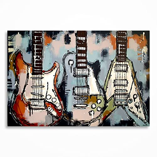 Amazon Com Guitar Painting Guitar Art Music Art Music Wall Art