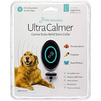 Amazon.com : Ultra Calmer Canine Stress Relief Sonic Collar, Large