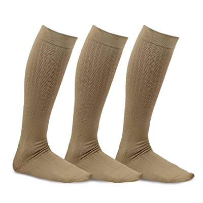 TeeHee Viscose from Bamboo Compression Knee High Socks with Rib 3-Pack