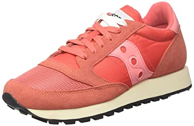 bfd1fb3b92b Saucony Womens Jazz Original Vintage S60368-1 Red Suede Trainers 6 US
