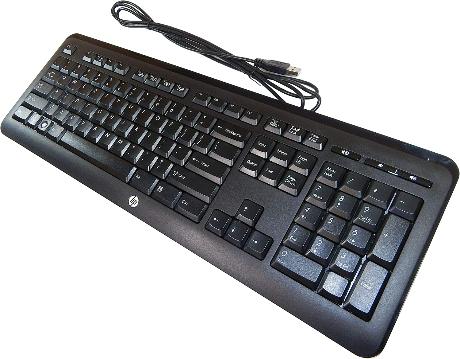 HP Jade USB Wired US English Keyboard 643691-001 KU-1060