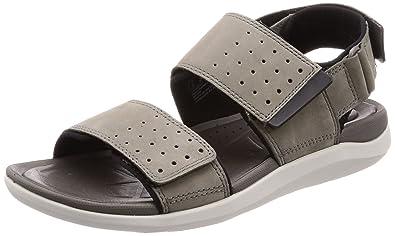352f710b96fd Clarks Garratt Active Nubuck Sandals in Grey  Amazon.co.uk  Shoes   Bags