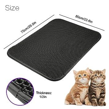 Alfombrilla de arena para gatos, para trampas, gatos, gran control de scatter con capa base resistente al agua: Amazon.es: Productos para mascotas