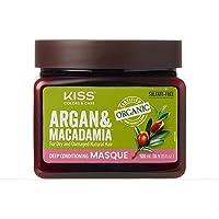 Kiss Colors & Care Organic Argan & Macadamia Deep Conditioning Masque 16.9 fl. oz...
