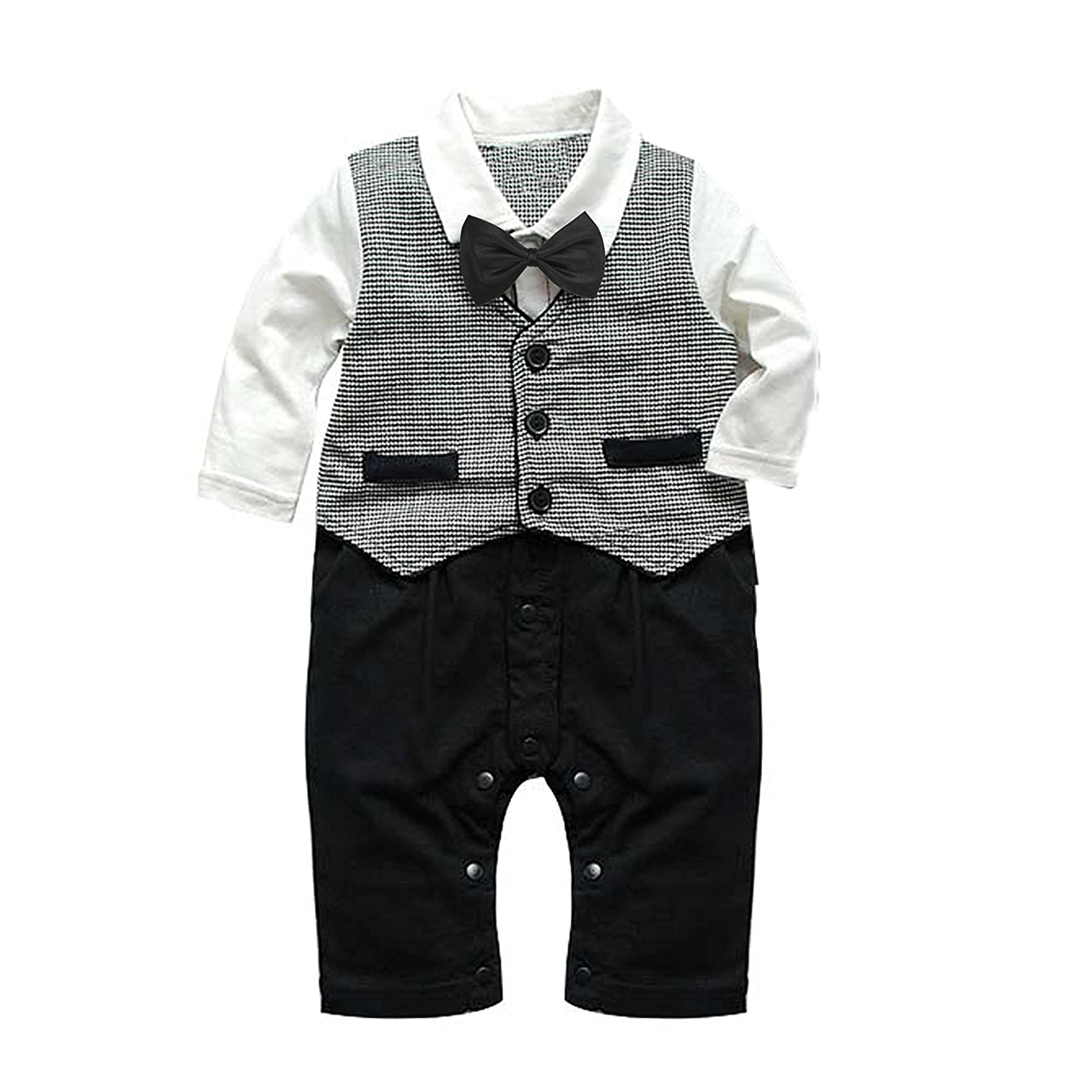 Baby Boy Formal Party Christening Wedding Tuxedo 1pc Waistcoat Suit ...