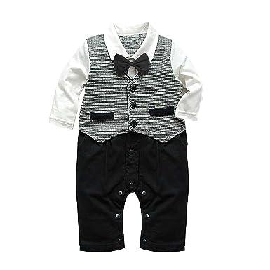 d6e845134 Baby Boy Formal Party Christening Wedding Tuxedo 1pc Waistcoat Suit (6-12  Months): Amazon.co.uk: Baby
