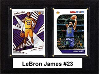 "product image for C & I Collectibles NBA 6""x8"" Lebron James Los Angeles Lakers Two Card Plaque"