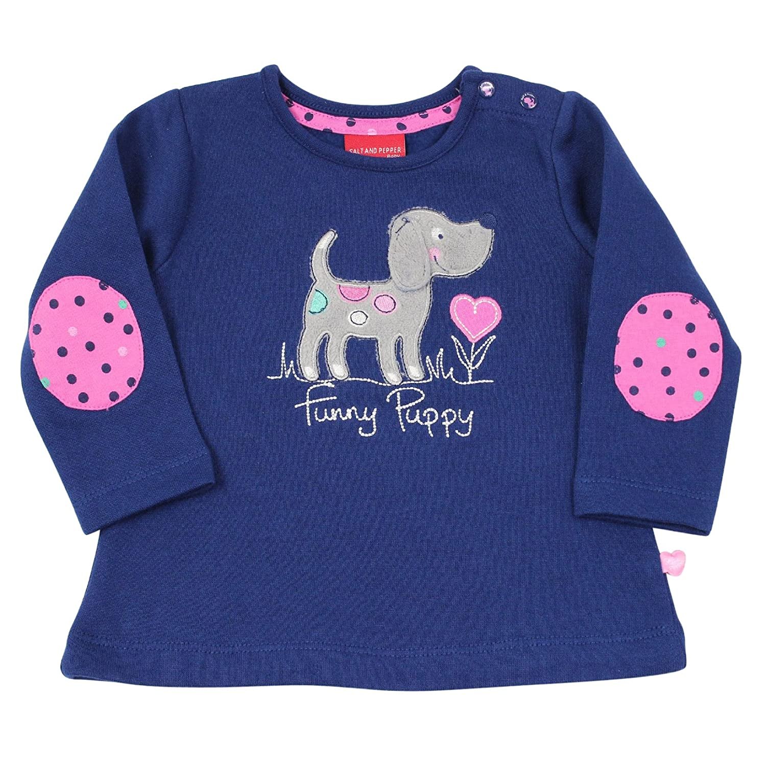 Pullover Eule in sky blue melange Salt and Pepper Baby M/ädchen Sweatshirt