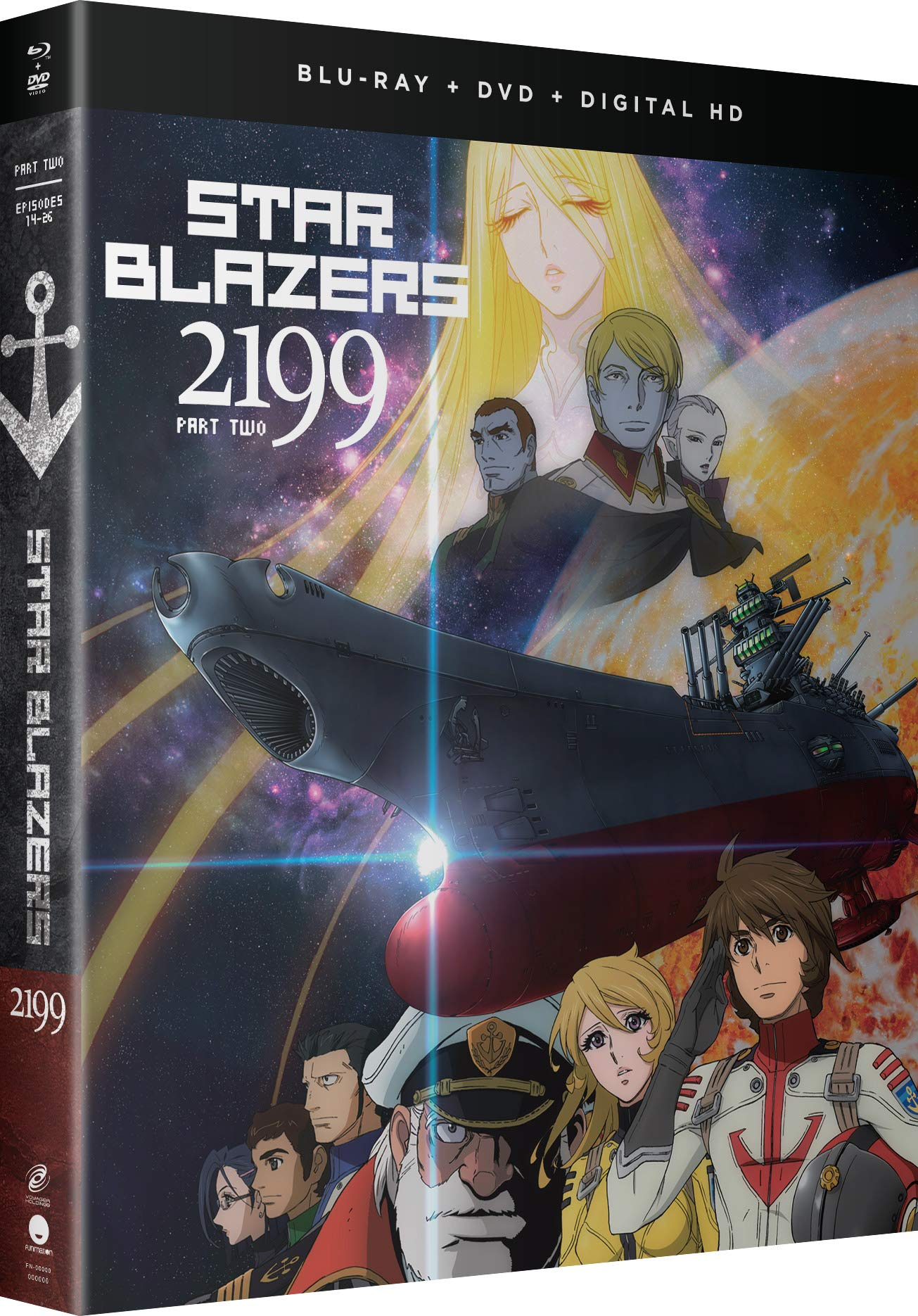 Blu-ray : Star Blazers: Space Battleship Yamato 2199 - Part Two (With DVD, Boxed Set, Subtitled, Digital Copy)