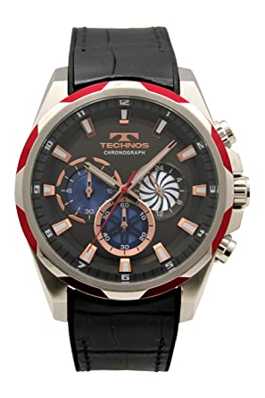 4b648bd6af Amazon | [テクノス]TECHNOS 腕時計 クロノグラフ 10気圧防水 T8585RE ...